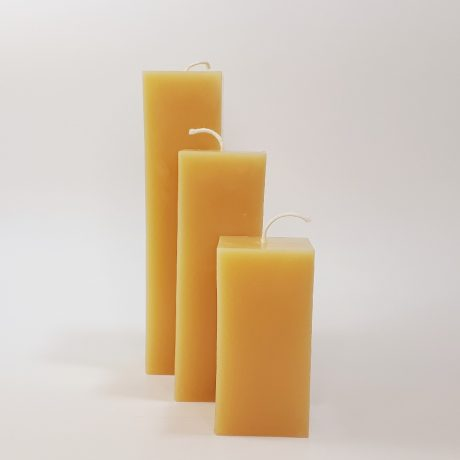 Beeswax 2×2 Square Pillar Candles