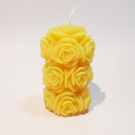 Arbutus Candle Company Beeswax Rose Pillar